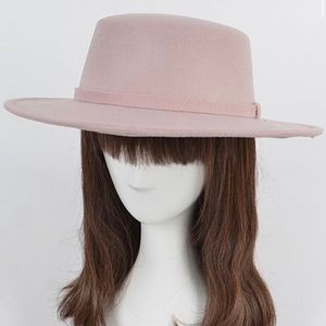 New lilac flappy fedora hat blush